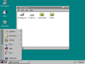 tampilan-windows-95